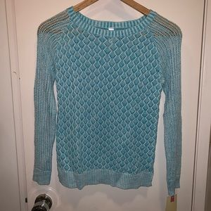 NWT Cherokee blue knit sweater